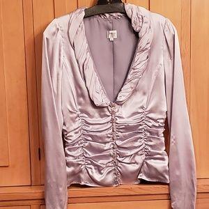 Gorgeous Armani silk blouse- silver/grey